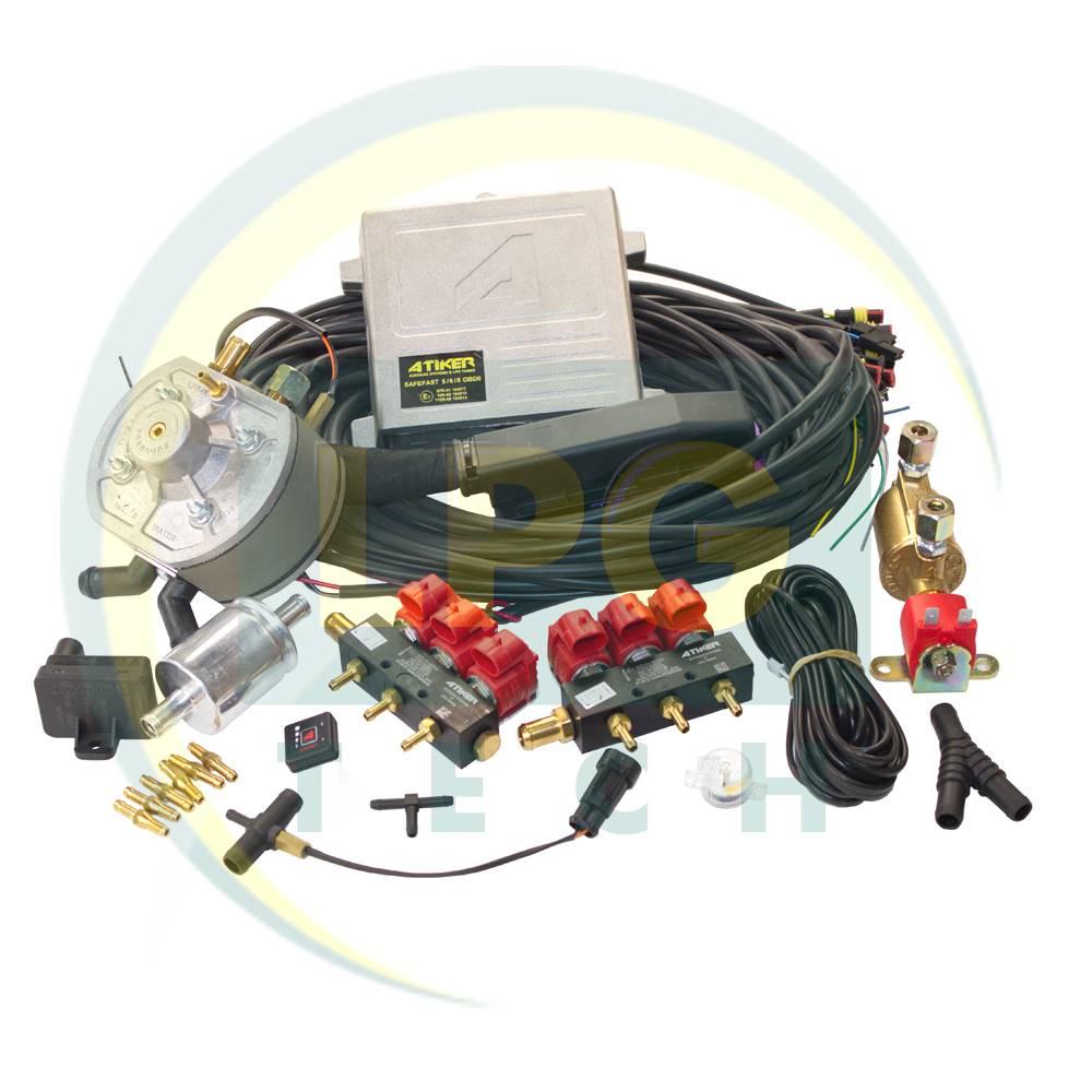 Система розподіленого уприскування газу Atiker Safefast: комплектація, опис