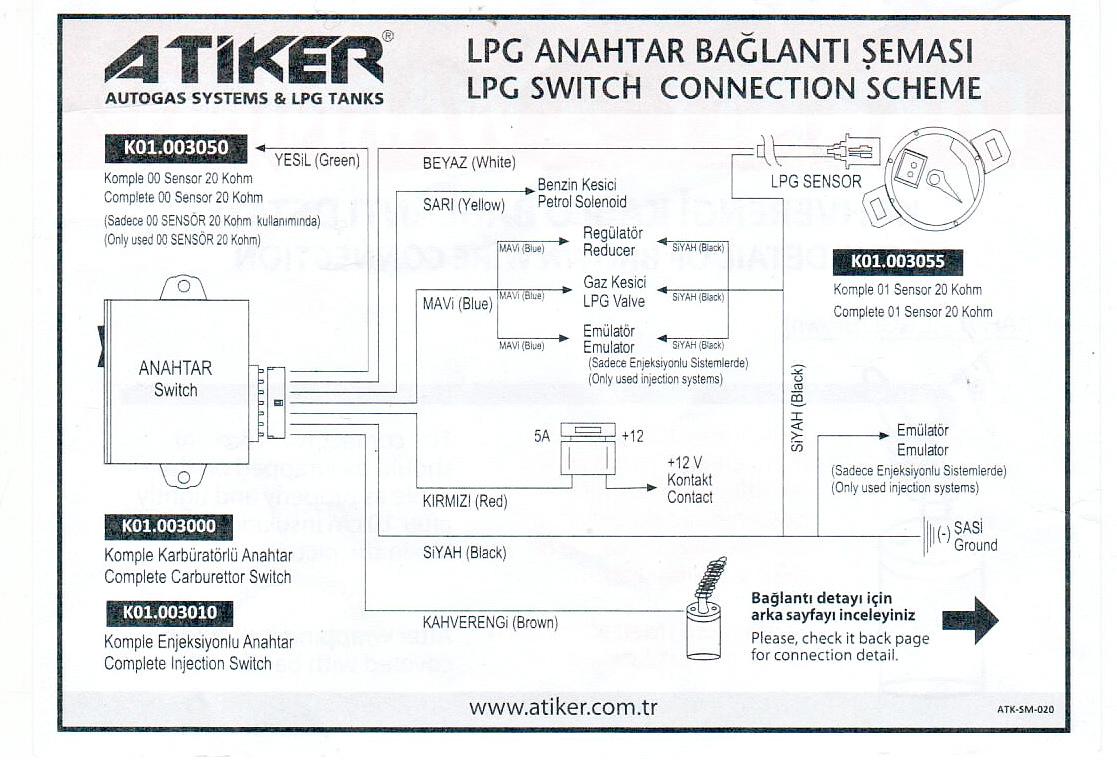 Atiker схема подключения