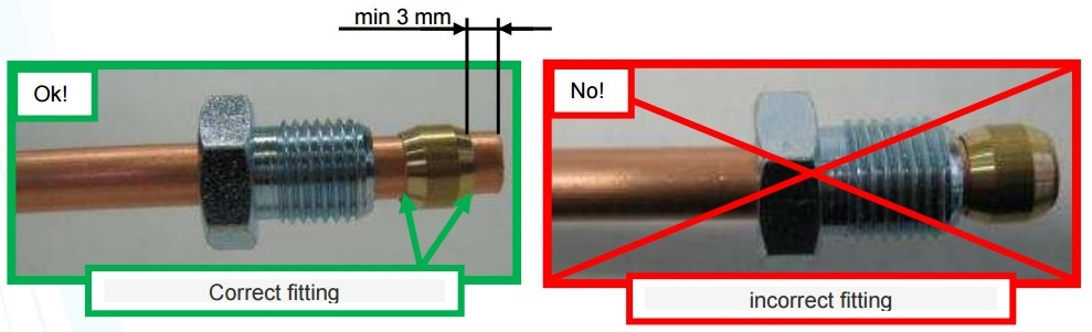 Импульсная трубка 8мм L=1м (с гайками на концах)