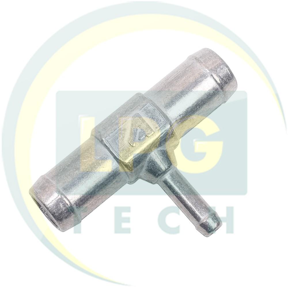 Трійник для охолоджуючої рідини 19x19x8 мм метал (TE.003)