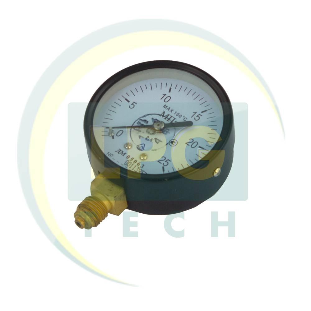 Манометр газовий автомобільний ДМ-05063, 0-25 МПА (ДМ-05063-0-25)