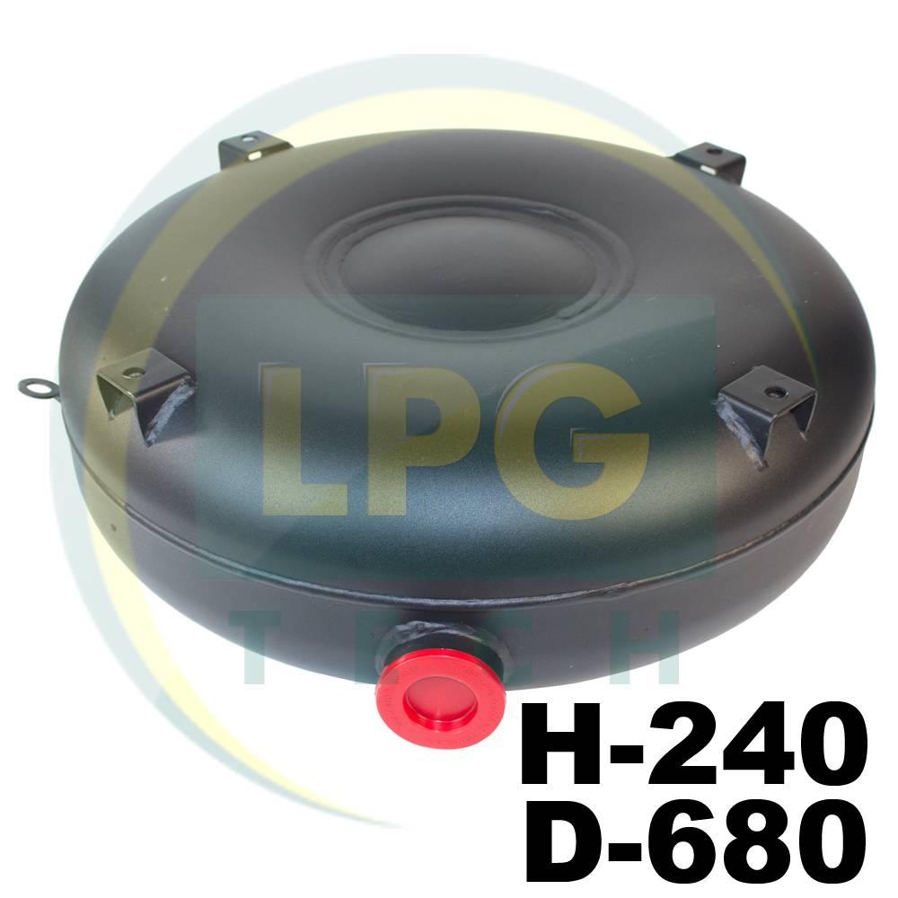 Балон пропан-бутан Atiker 72 літри 240х680 мм під запаску повнотілий