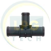 Тройник тосольный 19x16x19 мм (пластик)