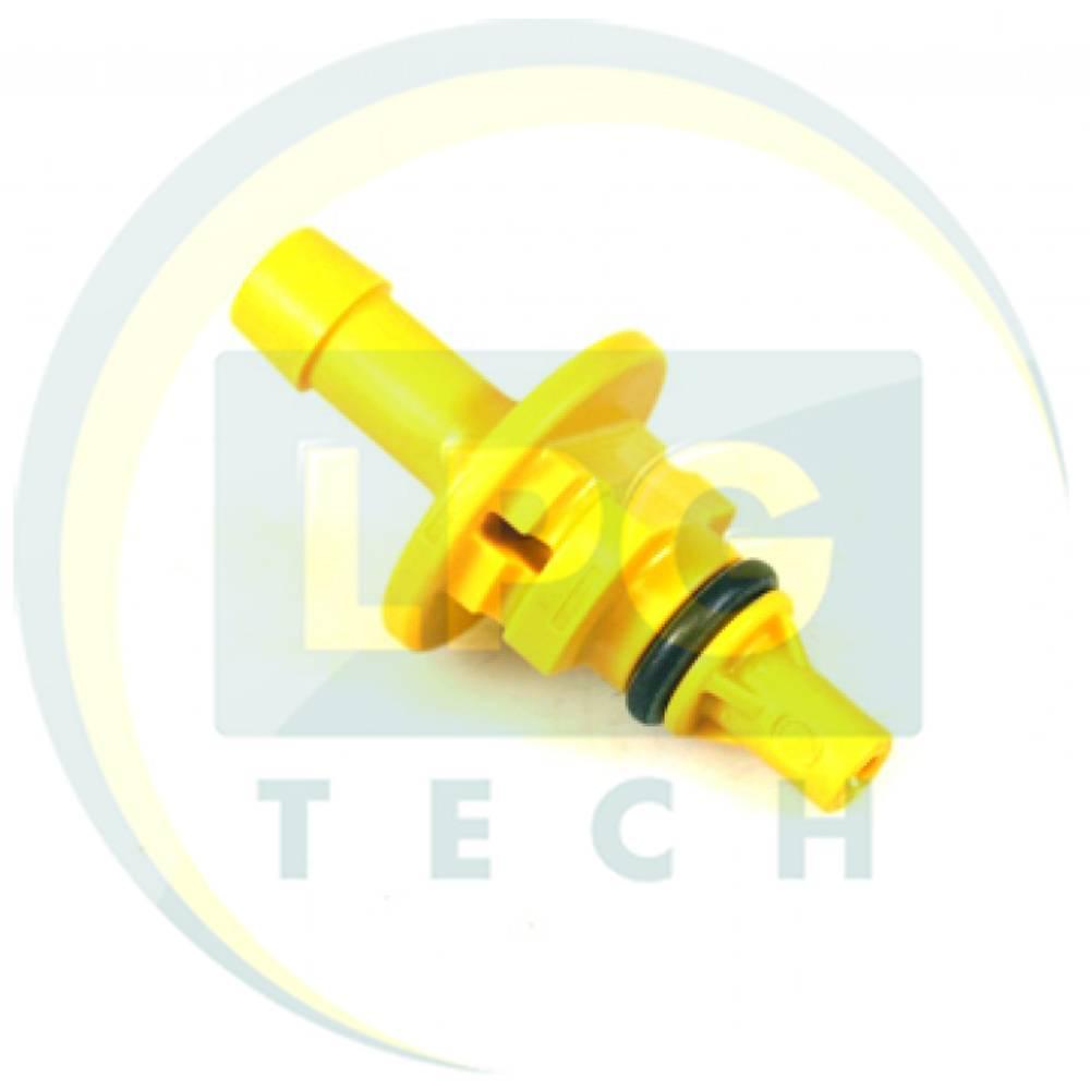 Штуцер виходу газу AEB D1,8 мм жовтий для рукава D6 мм (668 512 000)