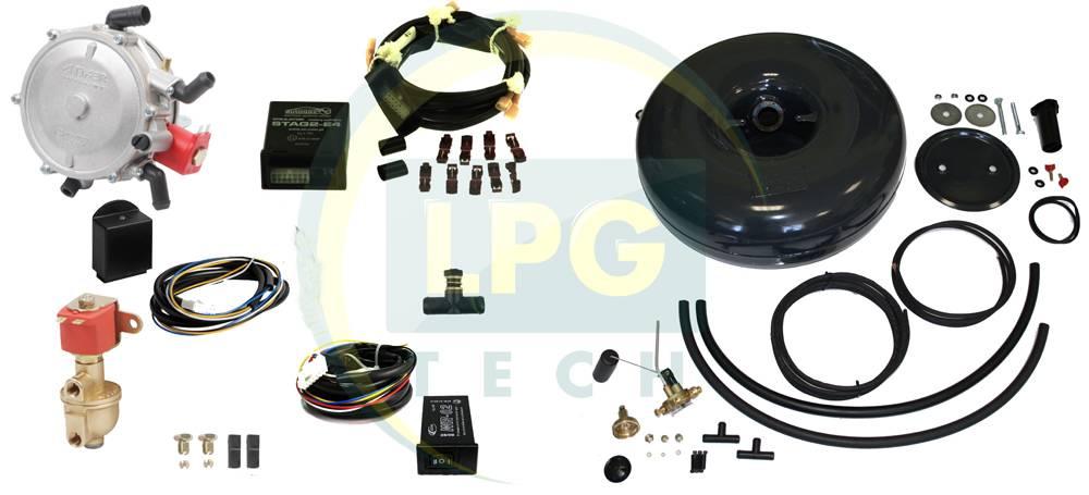 Комплект ГБО 2 поколения Atiker для инжекторных автомобилей с баллоном под запаску