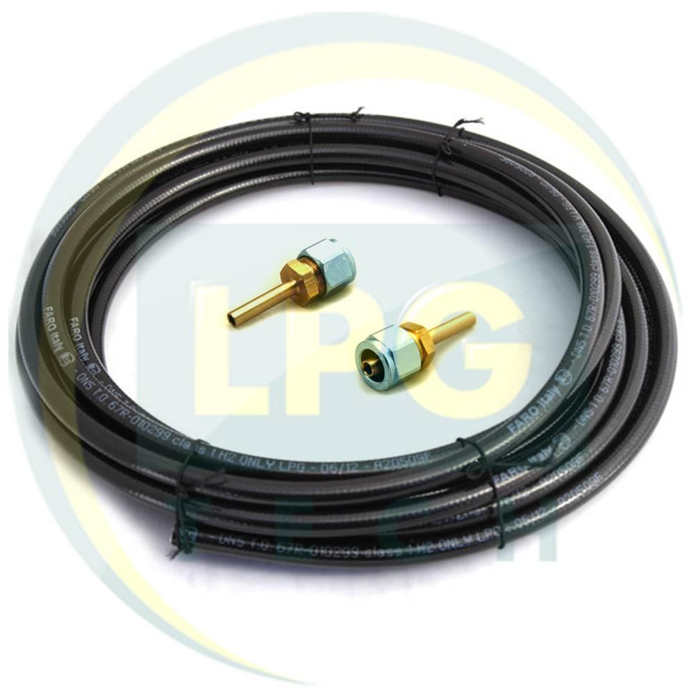 Термопластикова трубка FARO D6 мм (6 метрів) (2 прямих штуцери)