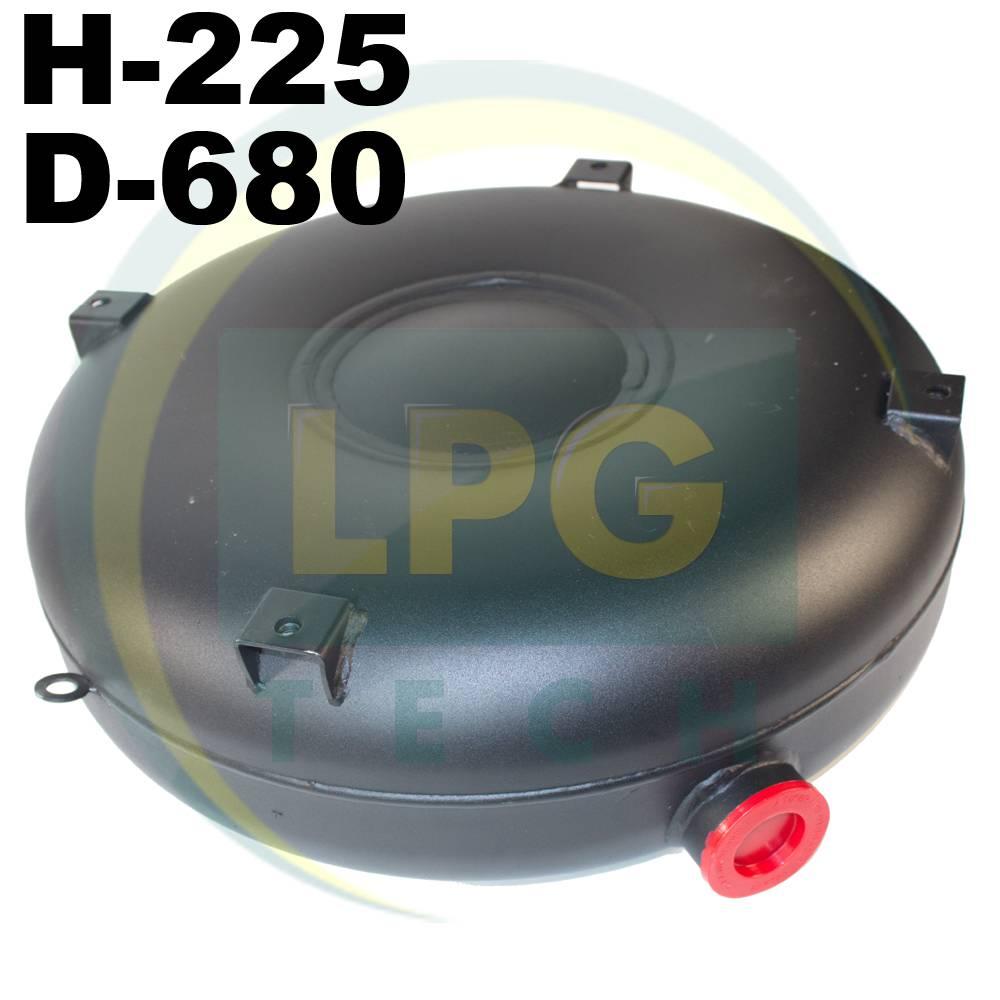 Балон газовий Atiker 68 літрів 225х680 мм під запасне колесо зовнішній повнотілий