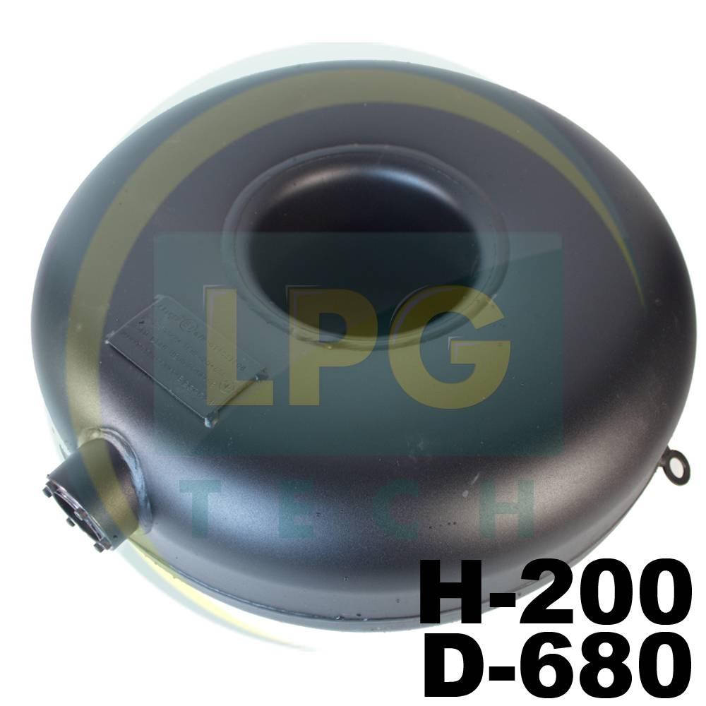 Балон пропановий Atiker 57 літрів 200х680 мм під запасне колесо зовнішній