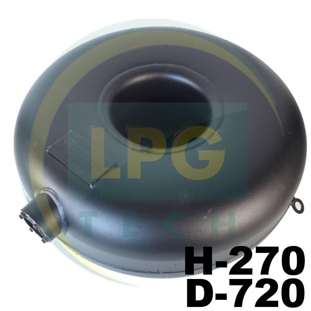 Балон зовнішній пропан тороідальний Atiker 89 літрів 270х720 мм