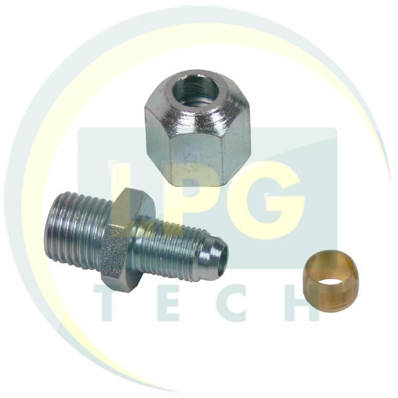 Перехідник для мультиклапана і редуктора D6 мм (M10x1) - D8 мм (G1/4) (MVAT2056)