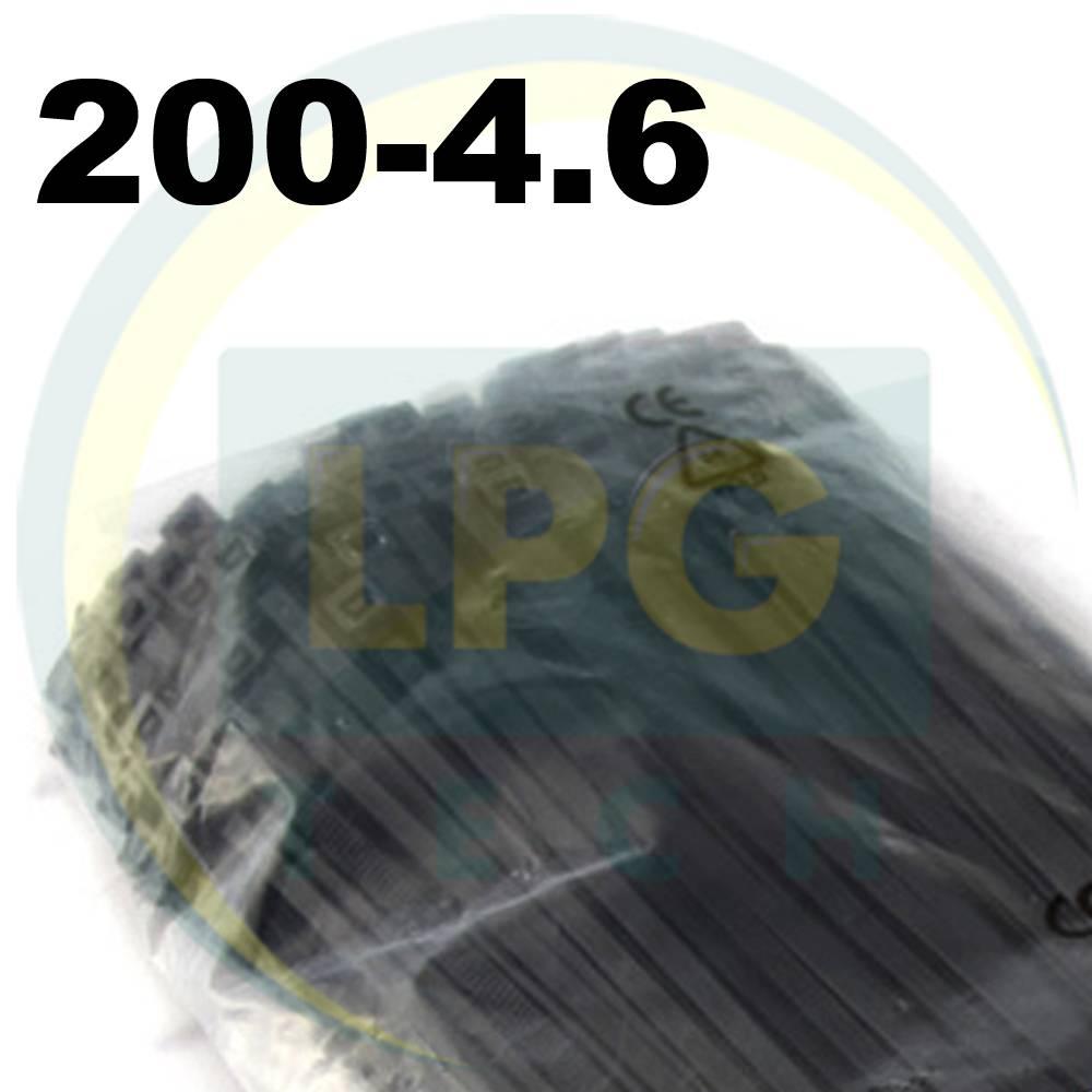 Стяжка 200х4,6 мм чорна (100 штук в пачці)