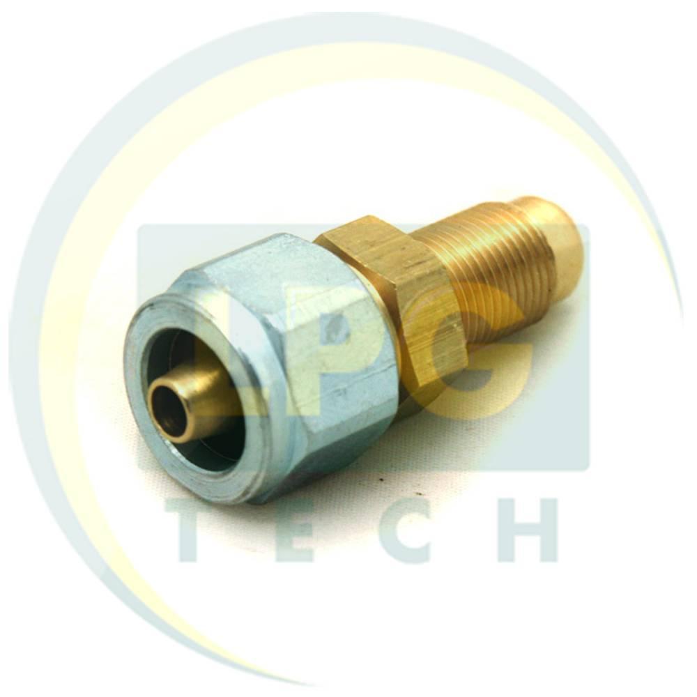 Штуцер-з'єднувач прямий М12х1/D8 для термопластикової трубки (GZ-2383)
