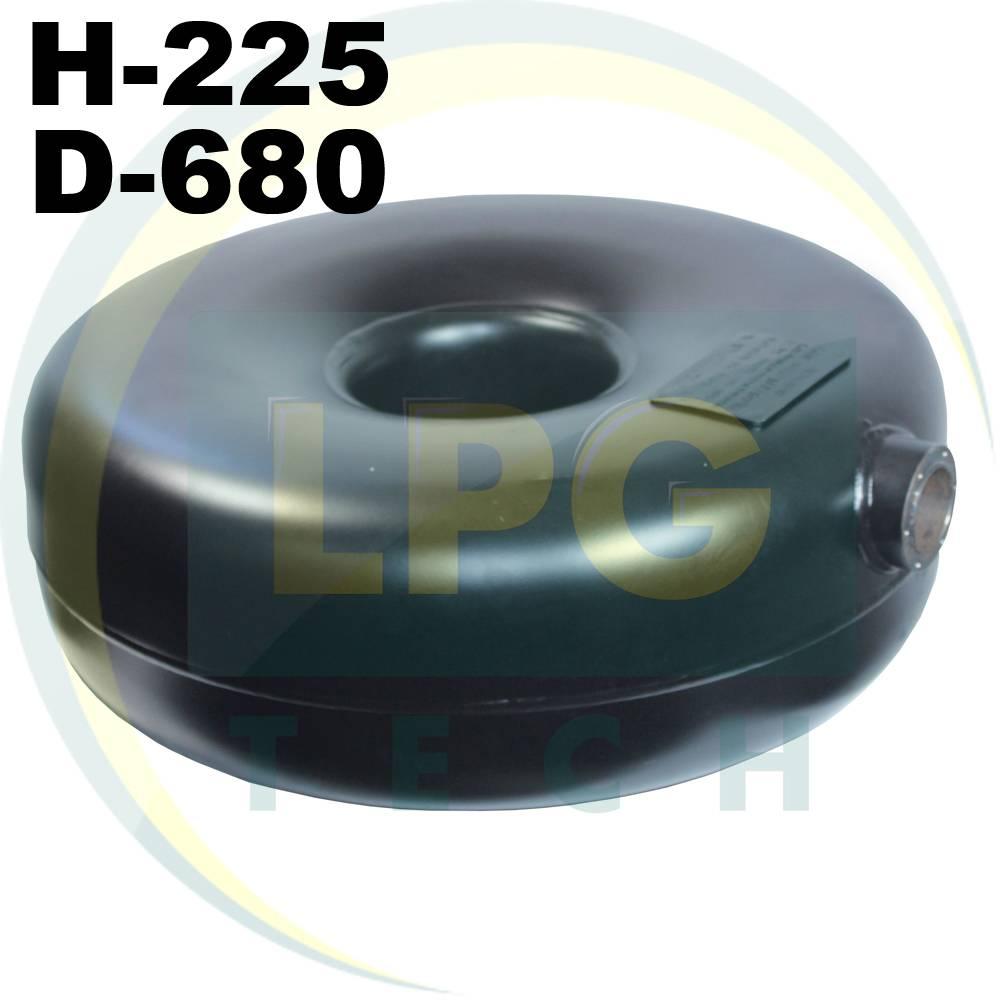 Тороідальний балон Green Gas зовнішній 225х680 мм 65 літрів