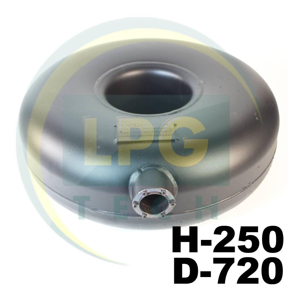 Балон газовий Atiker 62 літри 250х630 мм під запасне колесо зовнішній