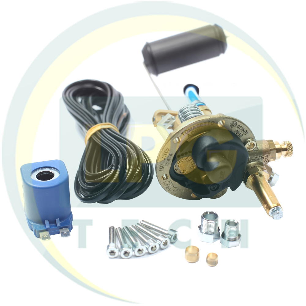 Мультиклапан Tomasetto Sprint 220-30 кл.А с катушкой (выход газа под трубку 8 мм) (MVAT0212x1)