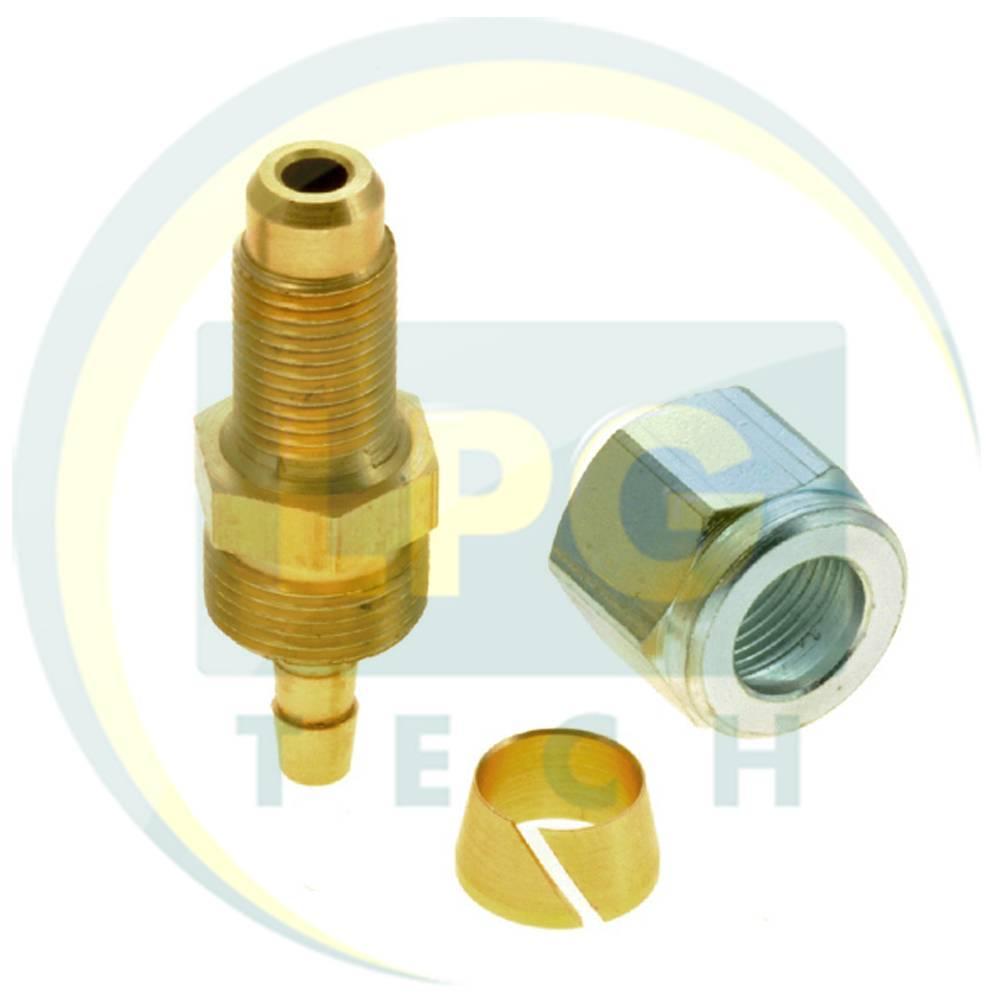 Штуцер-з'єднувач прямий М14х1/D8 для термопластикової трубки (GZ-2384)