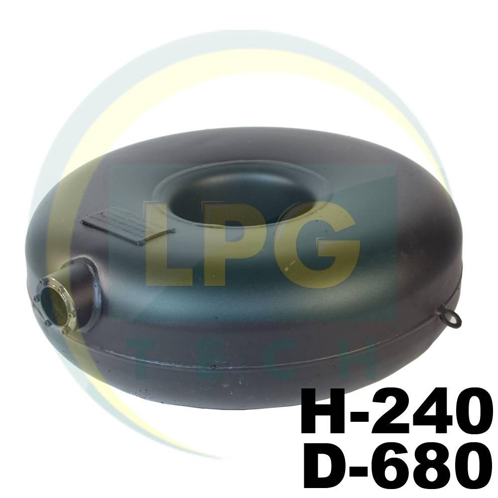 Балон пропан Atiker 69 літрів 240х680 мм під запаску зовнішній пустотілий