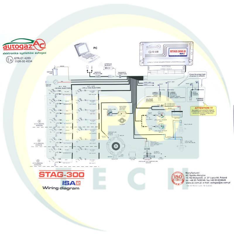 Схема подключения Stag-300