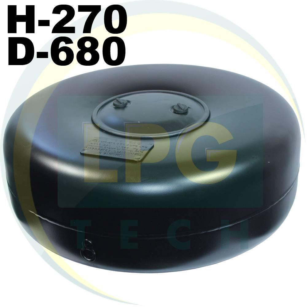 Тороідальний балон 270 х 680 мм 79 літрів Green Gas