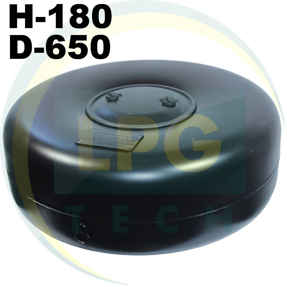 Тороідальний балон 180 х 650 мм 47 літрів Green Gas
