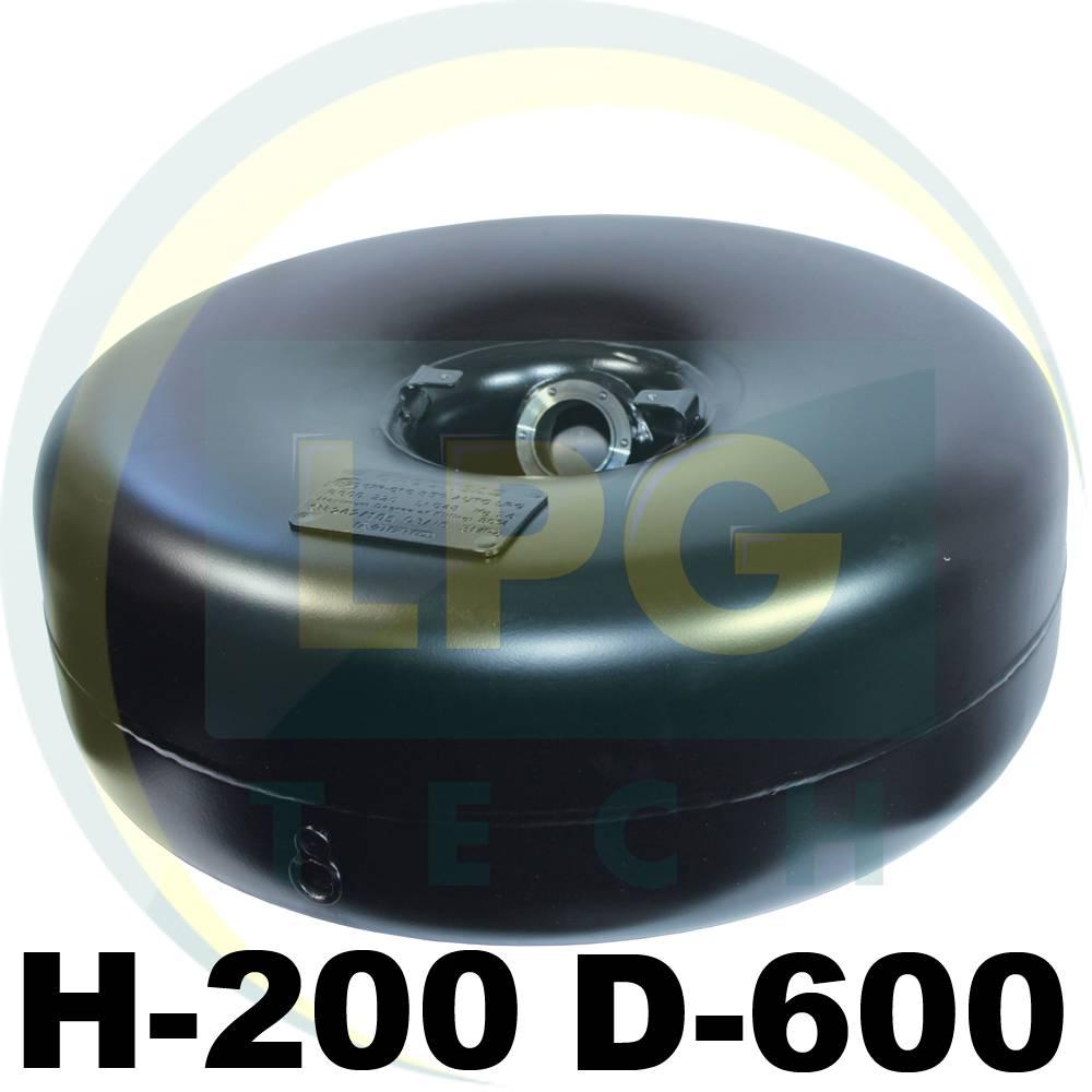 Балон пропан тороідальний Харпромтех 42 літри 200х600 мм