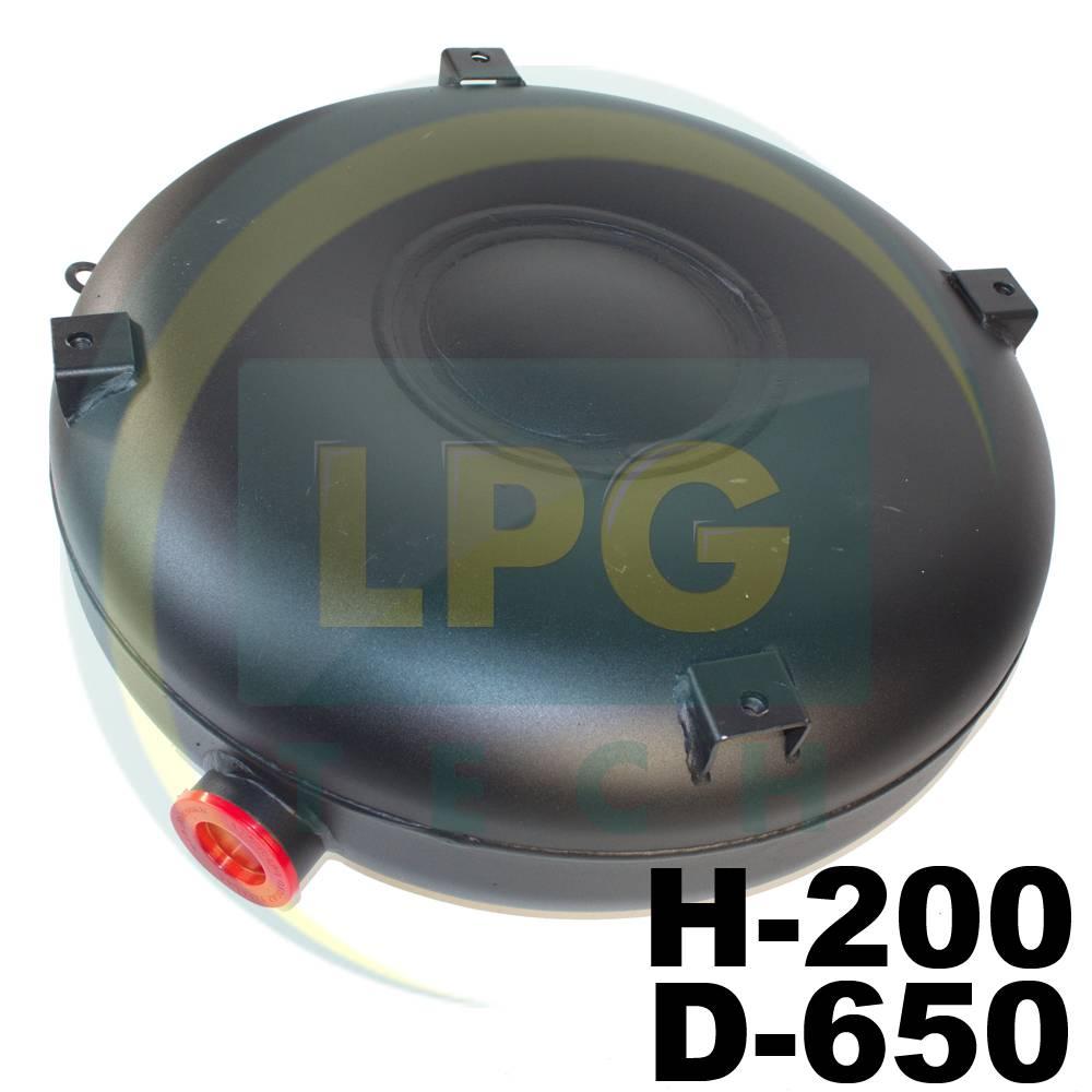 Балон Atiker 53 літри 200х650 мм під запасне колесо зовнішній повнотілий