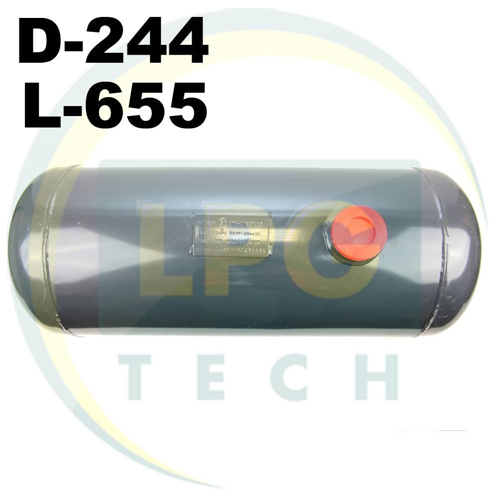 Баллон пропан цилиндрический Atiker 25 литров 244 х 640 мм