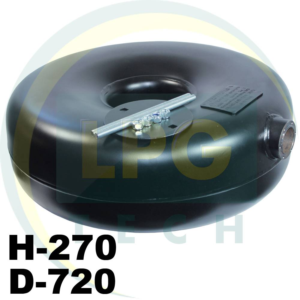 Тороидальный баллон 89 литров Green Gas наружный 270х720 мм