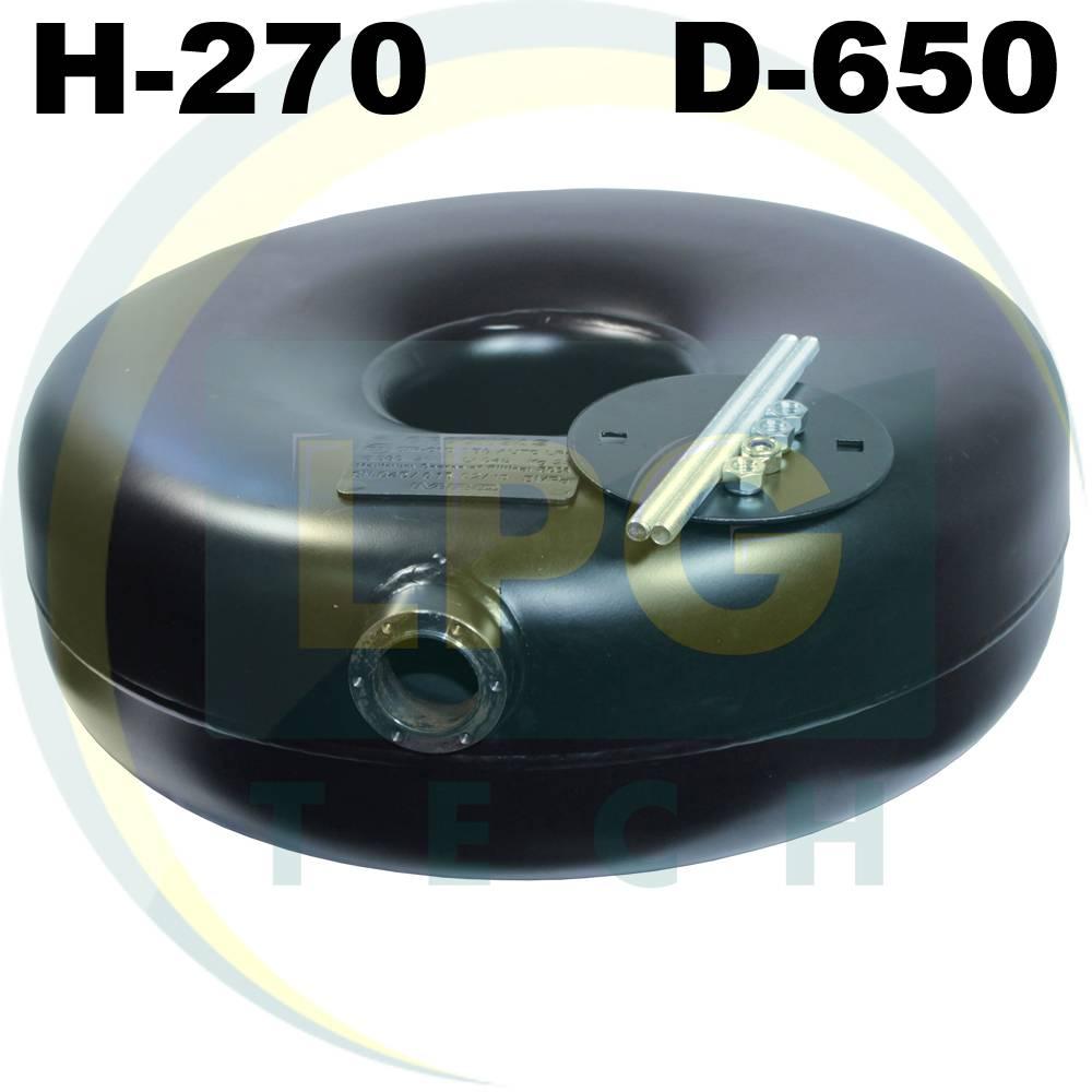 Тороідальний балон зовнішній 270х650 мм 72 літри Green Gas