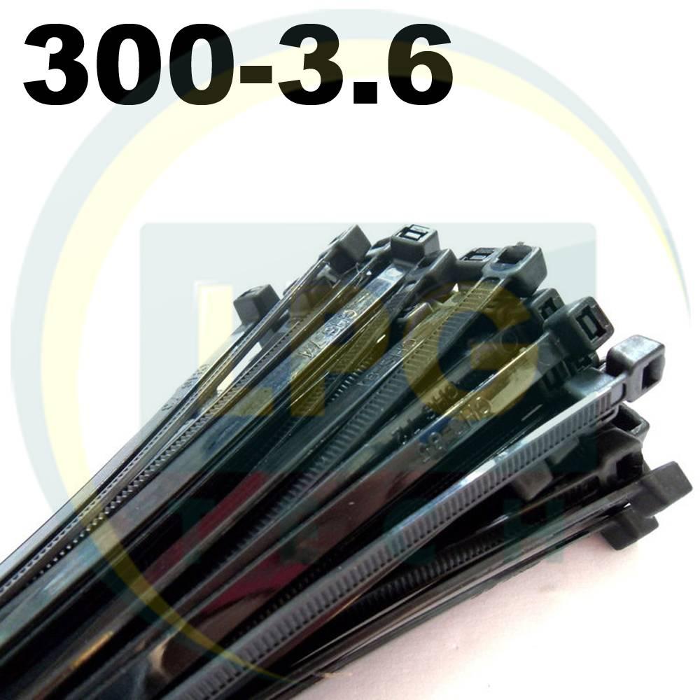 Кабельные стяжки 300х3,6 мм черные