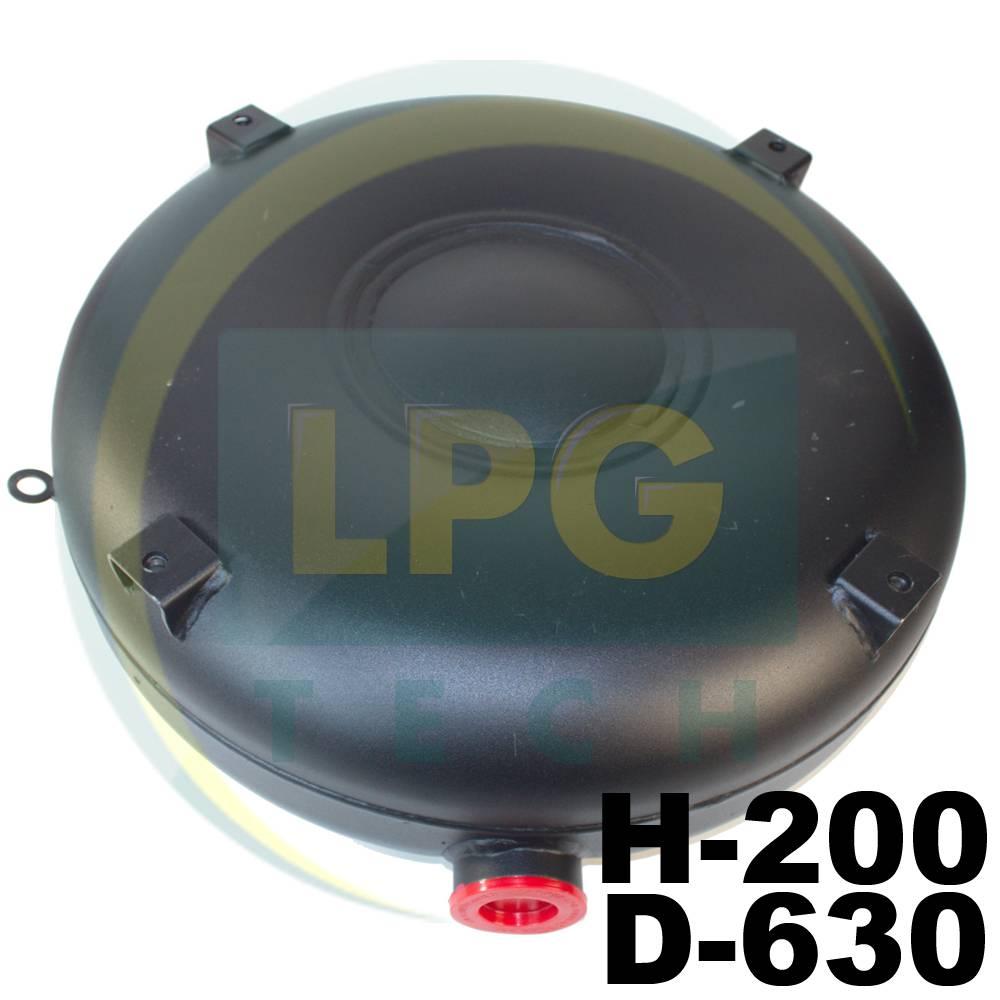 Балон пропан Atiker 50 літрів 200х630 мм під запасне колесо зовнішній повнотілий