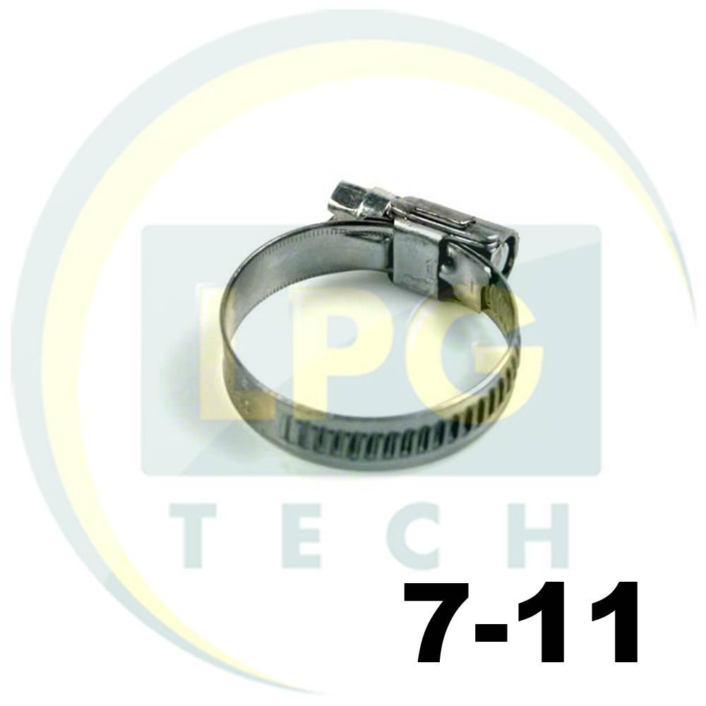 Хомут червячный HOP 7-11 мм