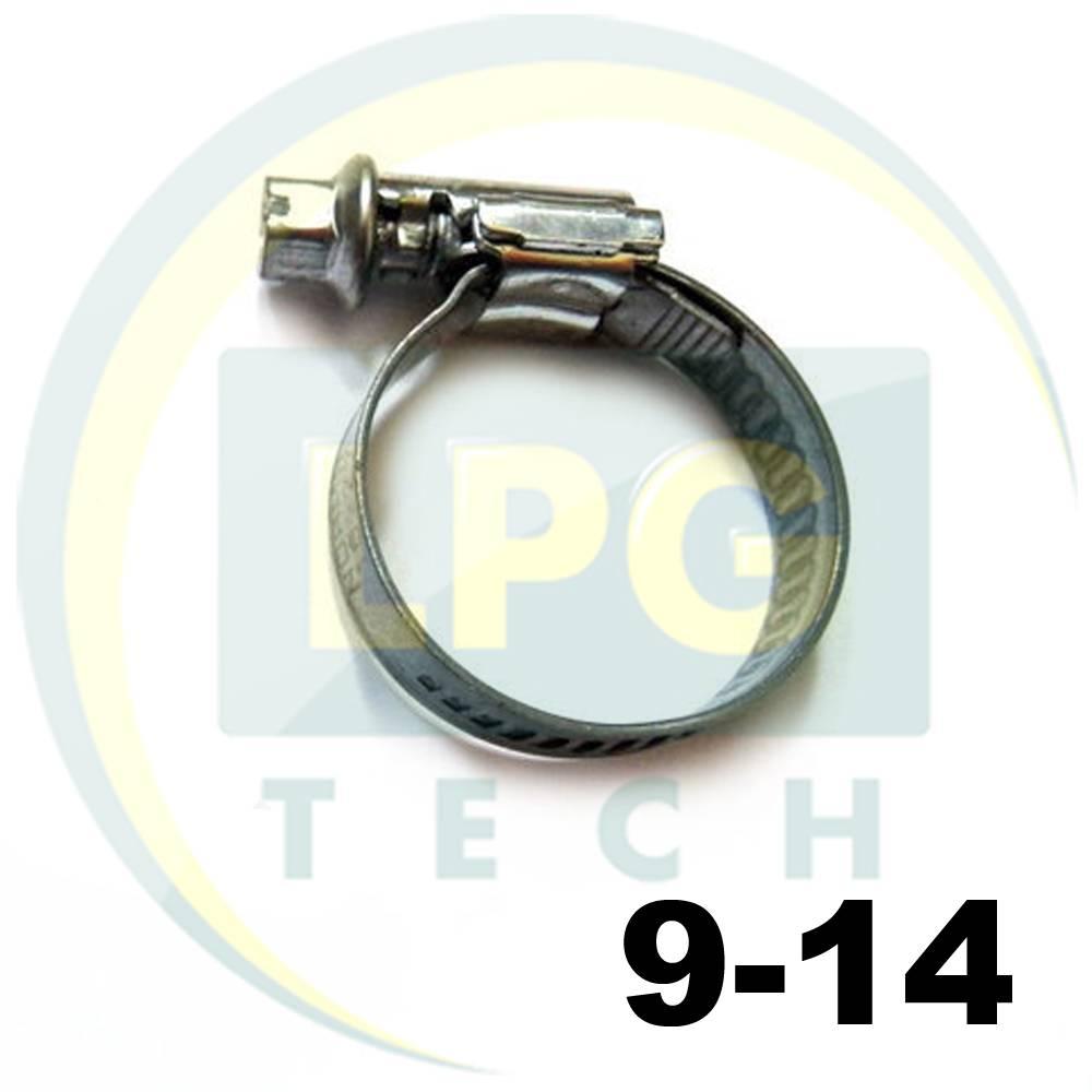 Хомут 9-14 мм HOP для систем впрыска
