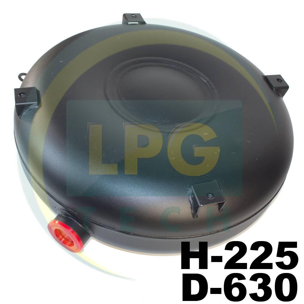 Балон пропан тороідальний Atiker 57 літрів 225х630 мм зовнішній повнотілий