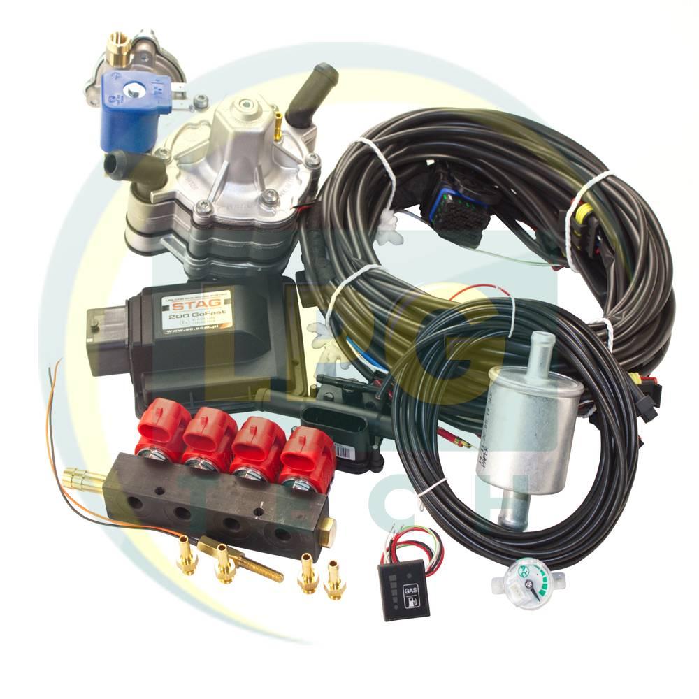 Міні-комплект ГБО 4 покоління Stag-200 Go Fast (Редуктор на вибір, форсунки Valtek / OMVL / Tomasetto)