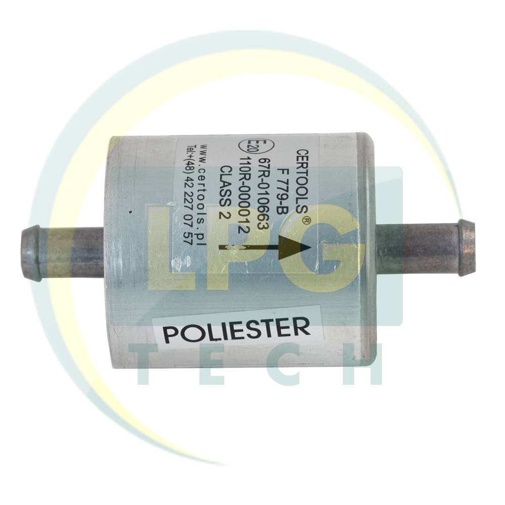 Фільтр тонкого очищення F779-B 1 вхід D11 - 1 вихід D11 мм зі змінним поліестеровим фільтром