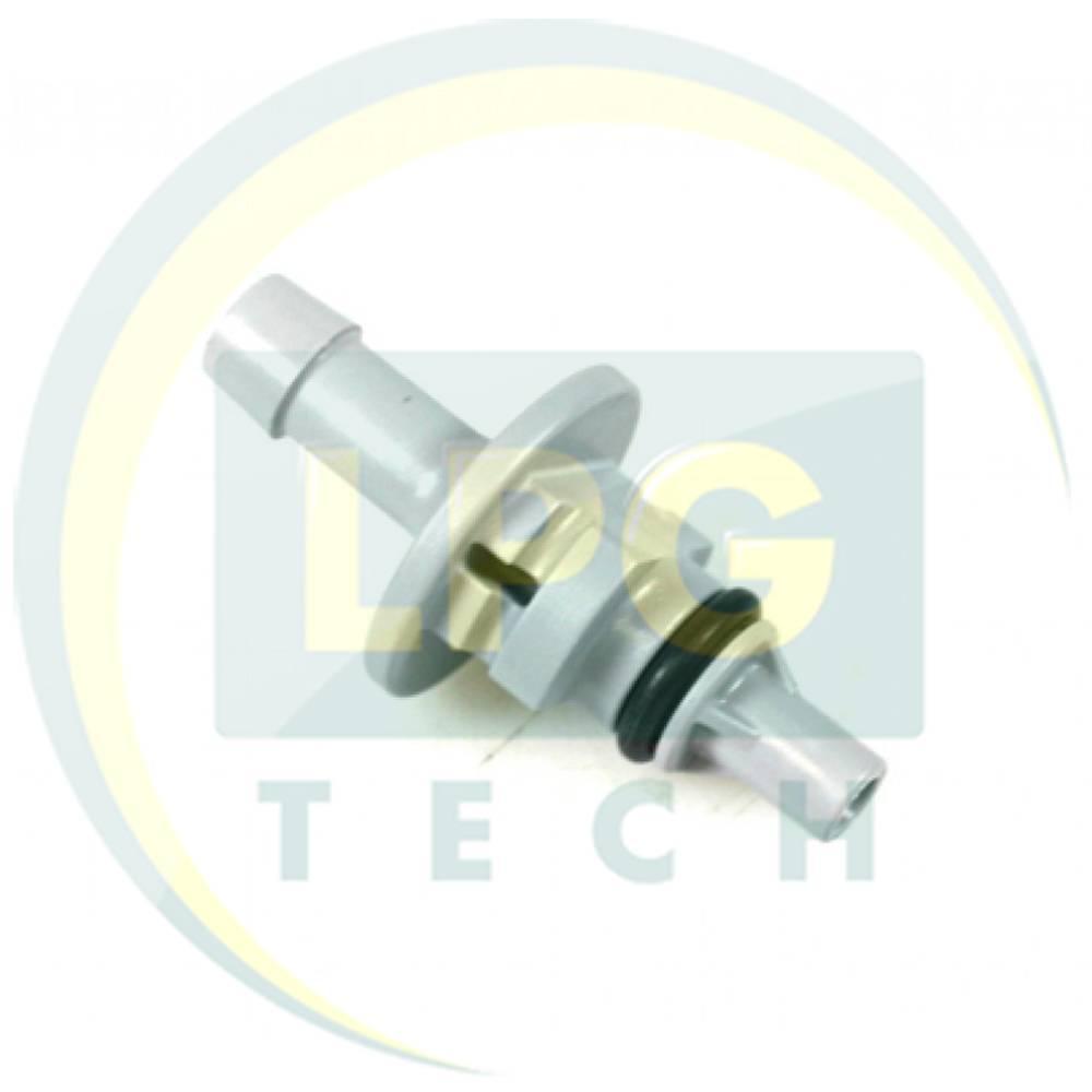 Штуцер виходу газу AEB D2,60 мм сірий для рукава D6 мм (668 516 000)