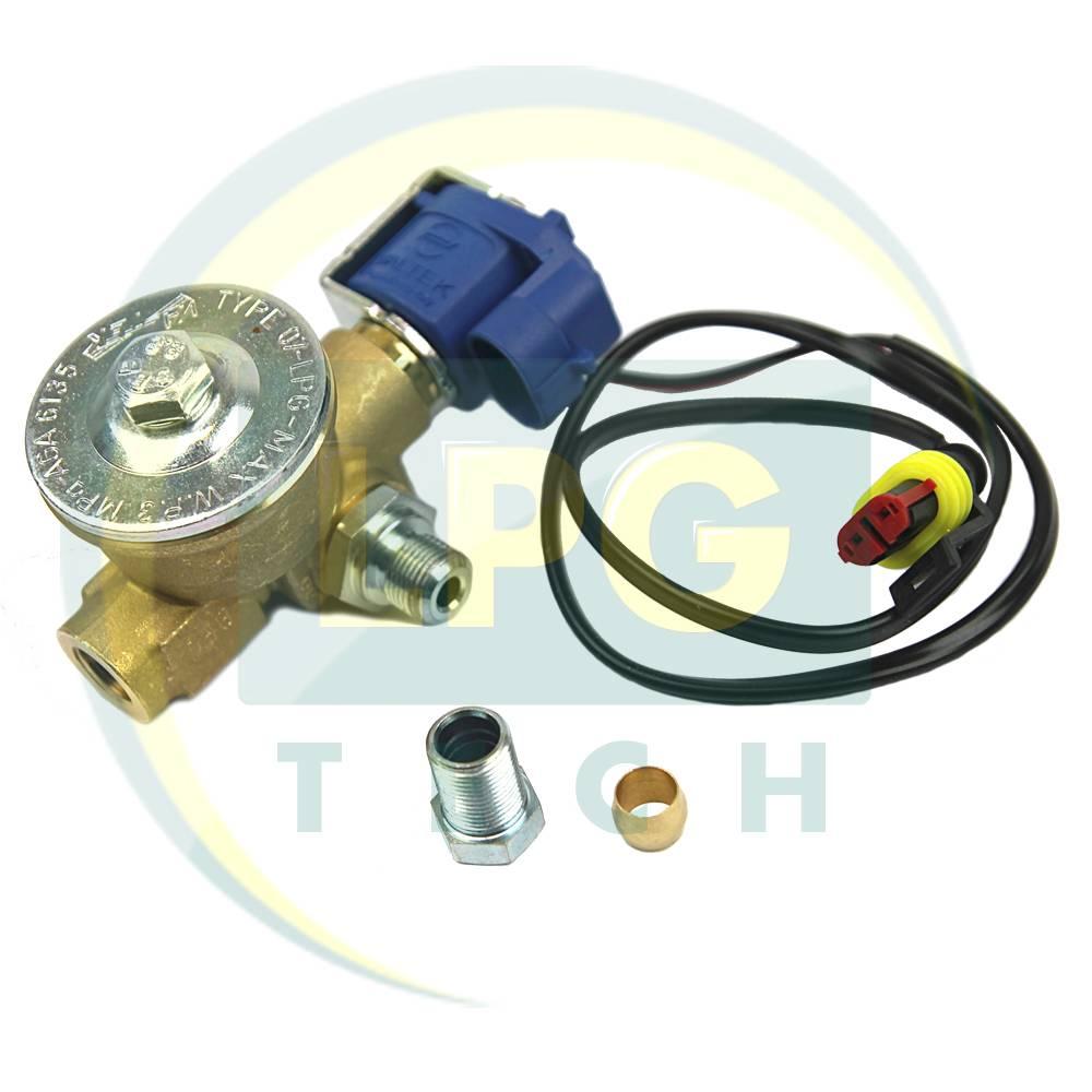 Електроклапан газу Valtek пропан (вхід D8/вихід D8 зовнішня різьба)
