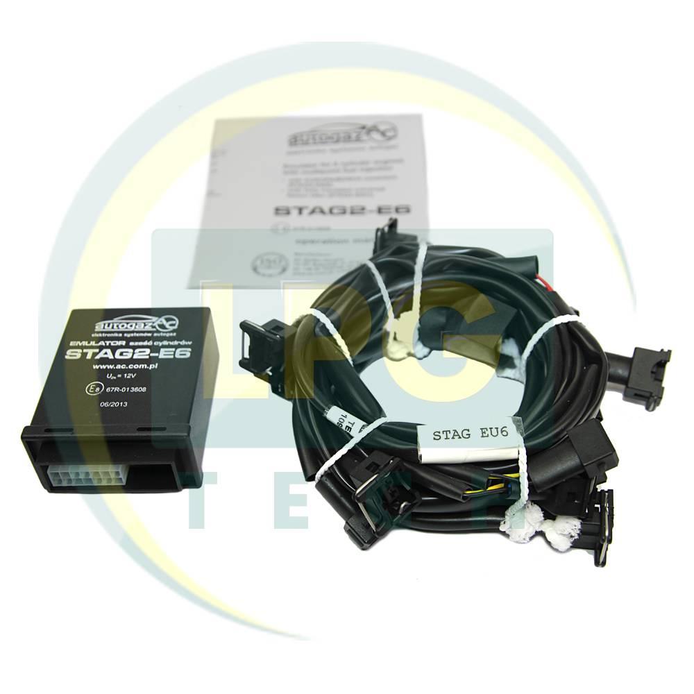 Емулятор відключення інжектора Stag2E-6 циліндрів з роз'ємами Europa/Bosch