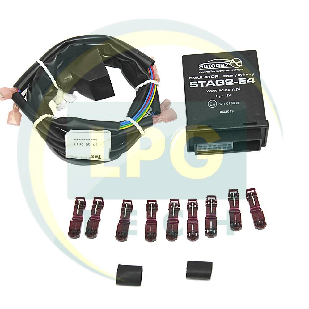 Емулятор відключення інжектора Stag2E-4 циліндри з універсальними роз'ємами