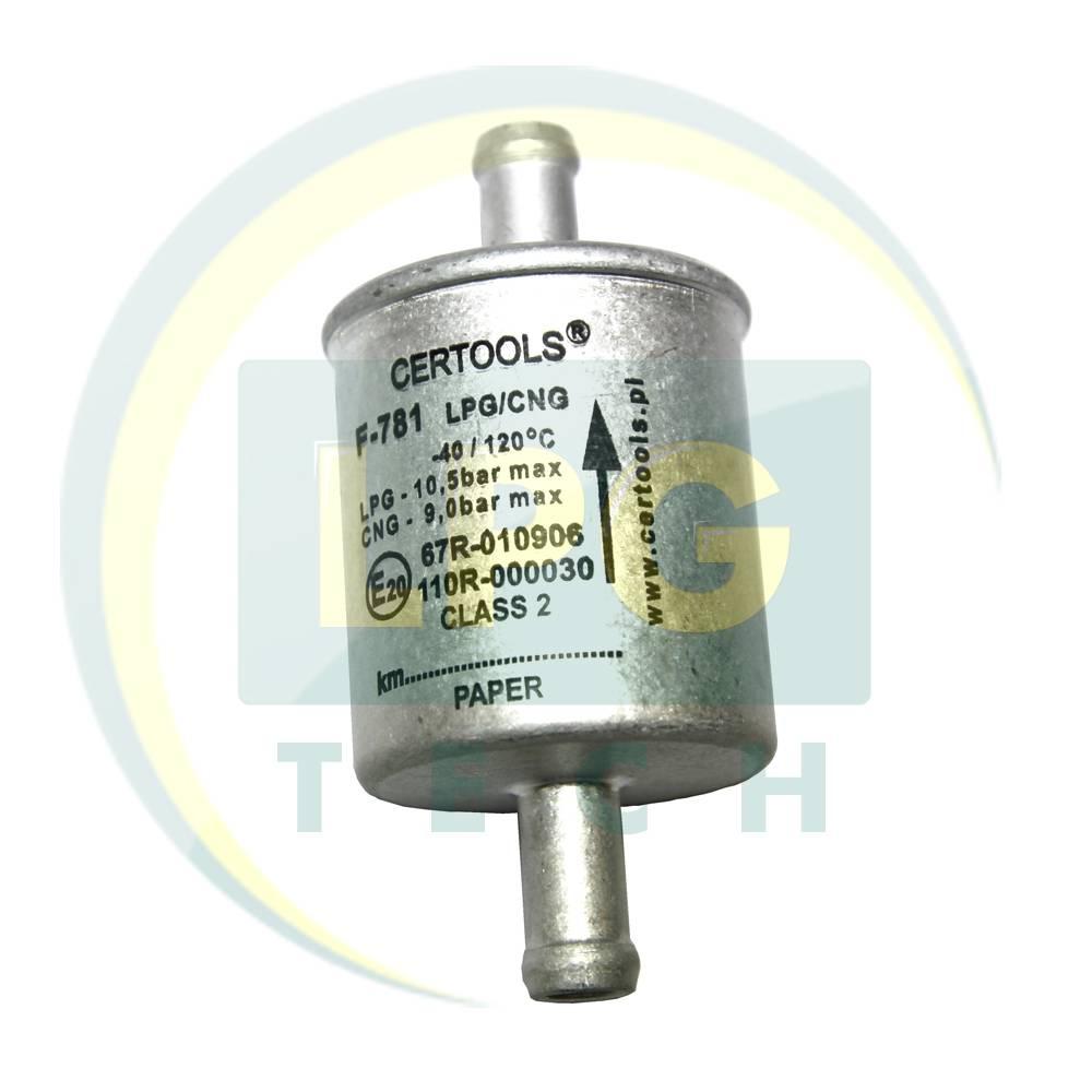 Фільтр Certools F781 (1 вхід D11 - 1 вихід D11 мм) з паперовим фільтруючим елементом