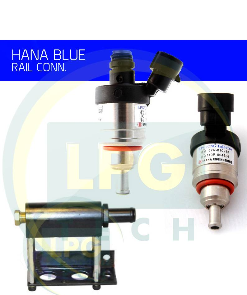 Газові форсунки Hana 2 циліндри сині