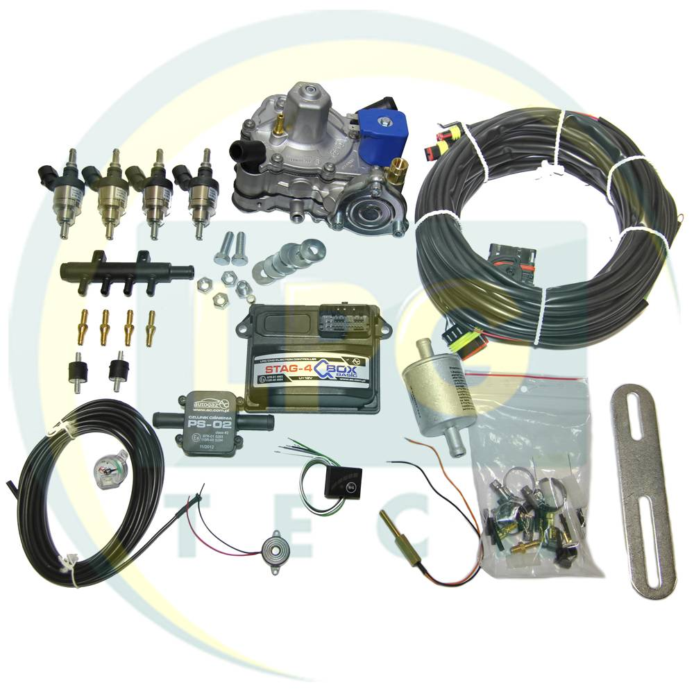 Міні-комплект ГБО STAG-4 Q-Box Basic 4 циліндри (Редуктор на вибір, форсунки Hana, Barracuda)