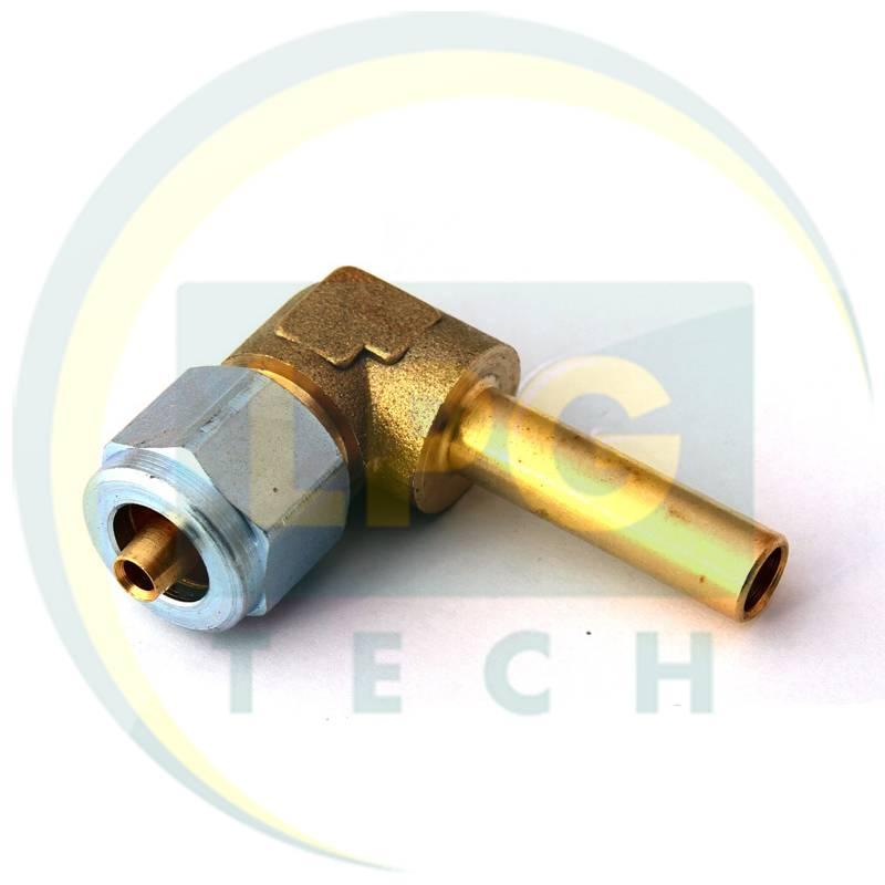 Штуцер кутовий з'єднувальний для термопластикової трубки FARO D8 мм (GZ-1313)