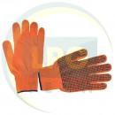 Рукавичка трикотажна х/б помаранчева з точковим PVC покриттям на долоні Intertool (SP-0131)