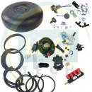 Комплект ГБО KME NEVO 4 циліндри з балоном (Редуктор на вибір, форсунки Valtek/OMVL/Tomasetto, фільтр, балон, мультиклапан, трубки, шланги)