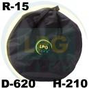 Чохол на запасне колесо R15 (D620 мм, H210 мм)