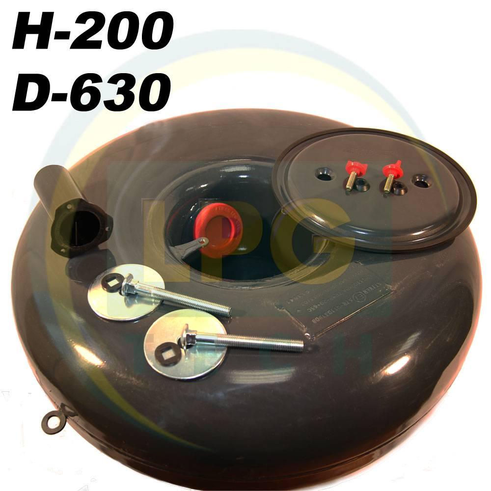 Балон пропан Atiker 48 літрів 200х630 мм під запасне колесо