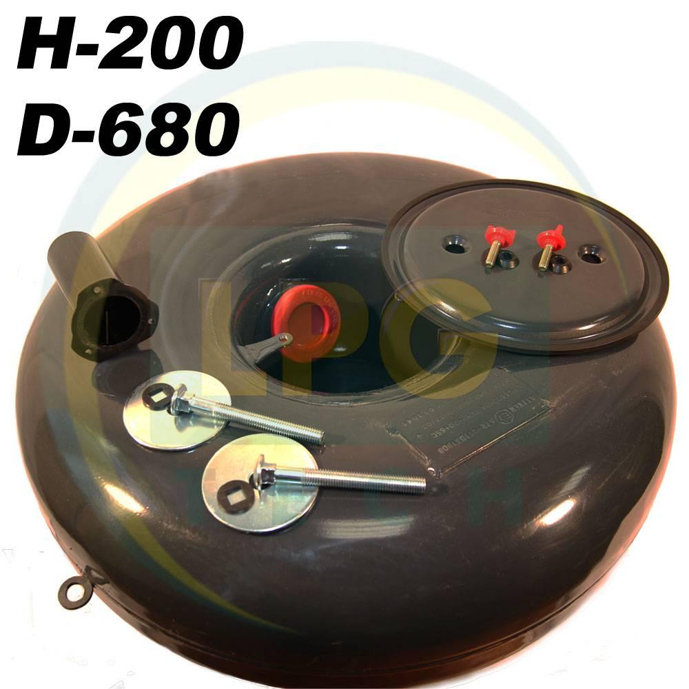Балон пропан тороідальний Atiker 57 літрів 200х680 мм