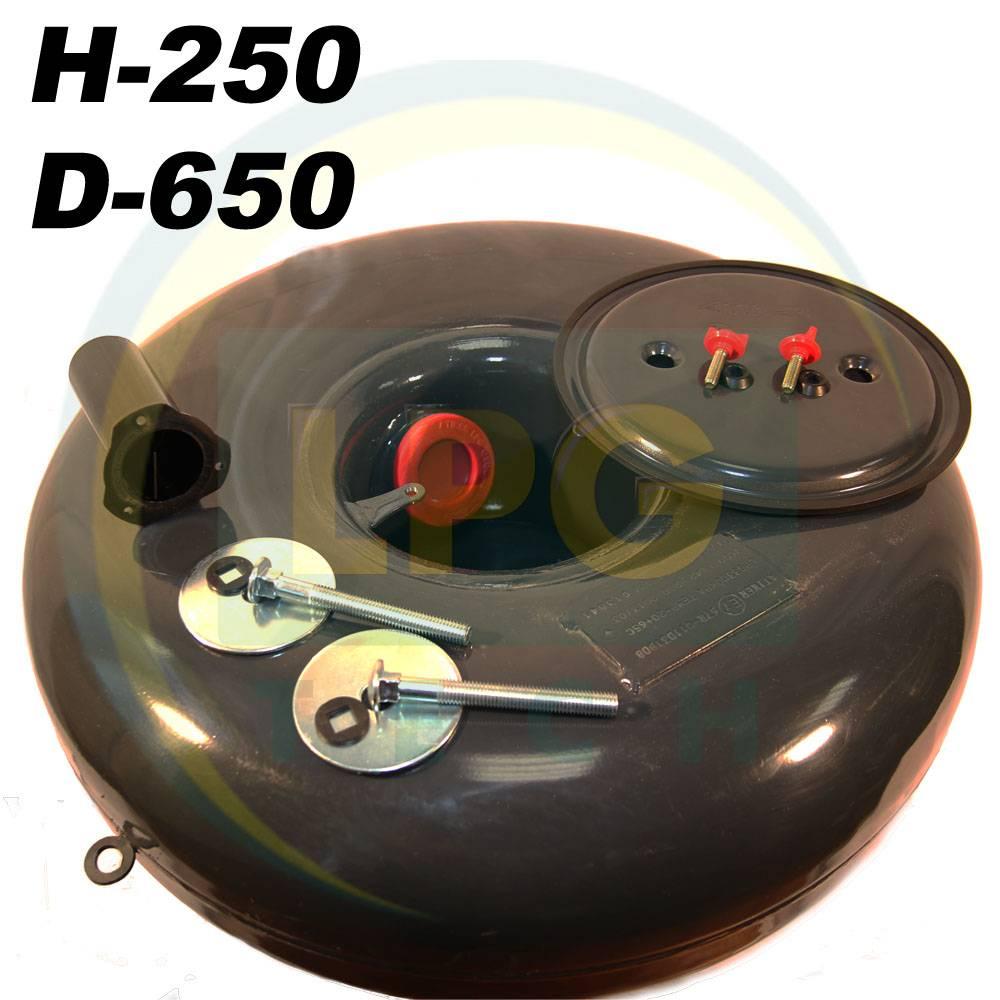 Балон пропан Atiker 67 літрів 250х650 мм під запасне колесо